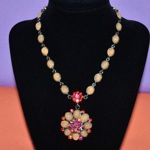 SNK Jeweled Rhinestone Statement Necklace Chic 💖